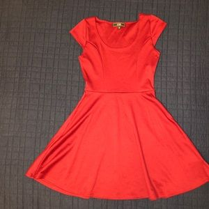 EUC Small Fit and Flare Dress by Vibe Maroon